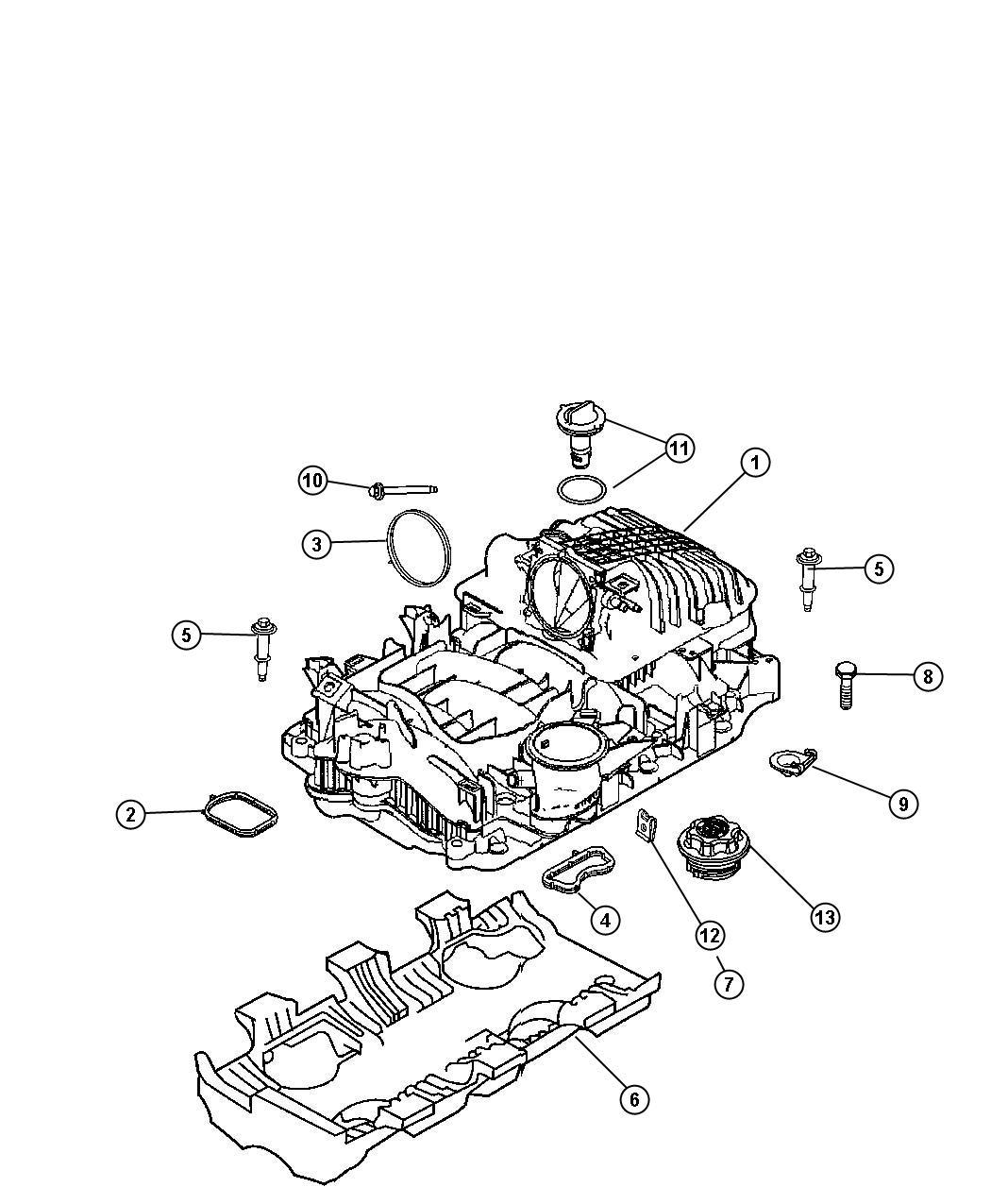 Chrysler Aspen Manifold Package  Intake