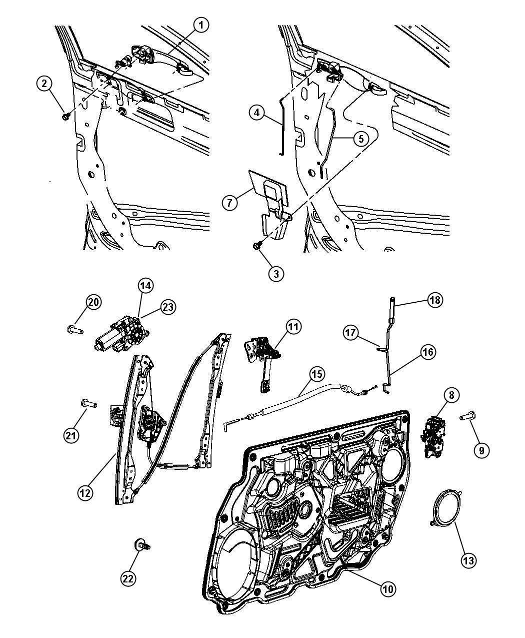 2008 Chrysler Sebring Latch Right Front Door Module 04589426ae Mopar Parts Inc Myrtle