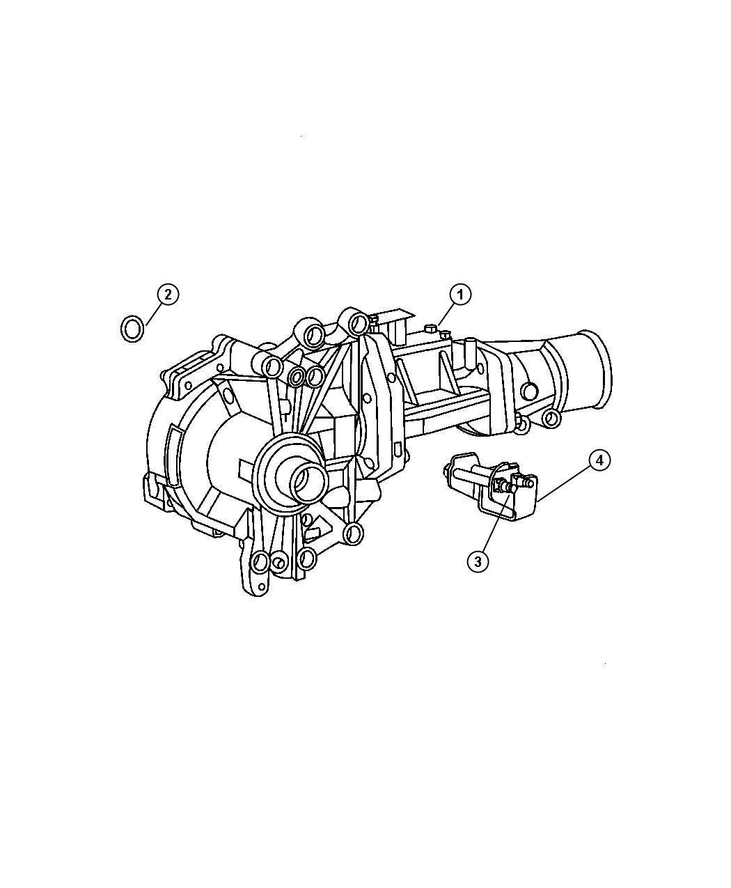 2007 Jeep Patriot O Ring  Seal  Transfer Case  Power  Unit  Module