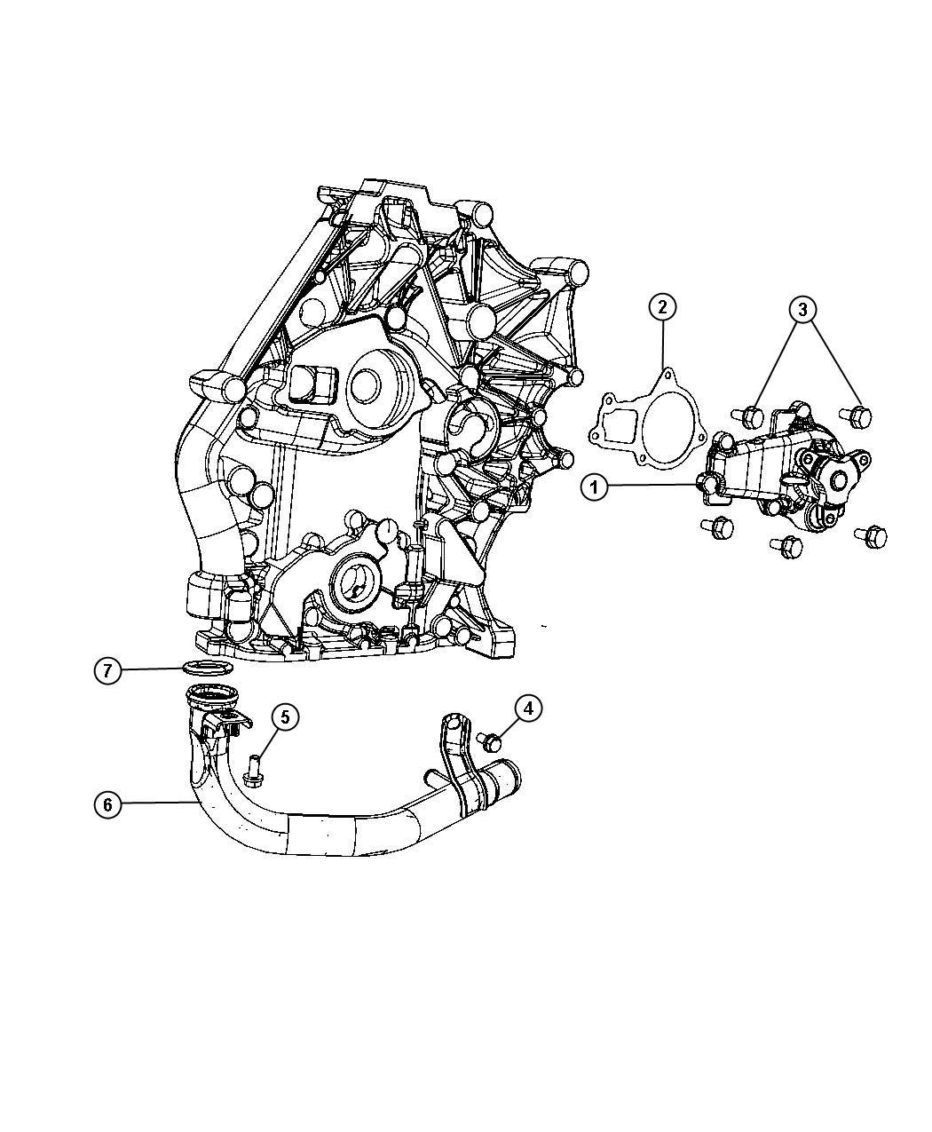 2008 Dodge Grand Caravan Pump  Water  Engine  Ohv  Timing