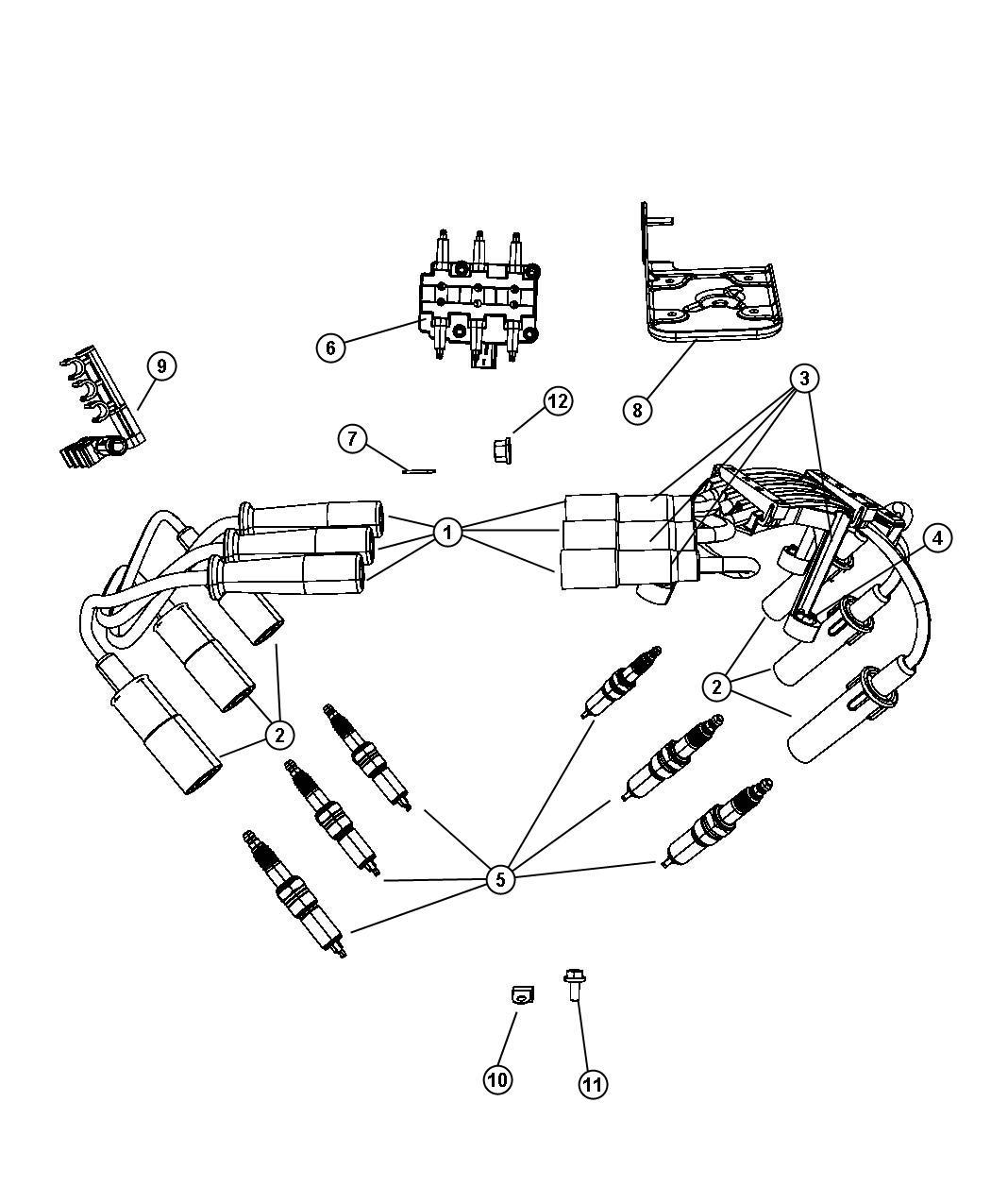 chrysler voyager spark plug plugs ignition cables. Black Bedroom Furniture Sets. Home Design Ideas
