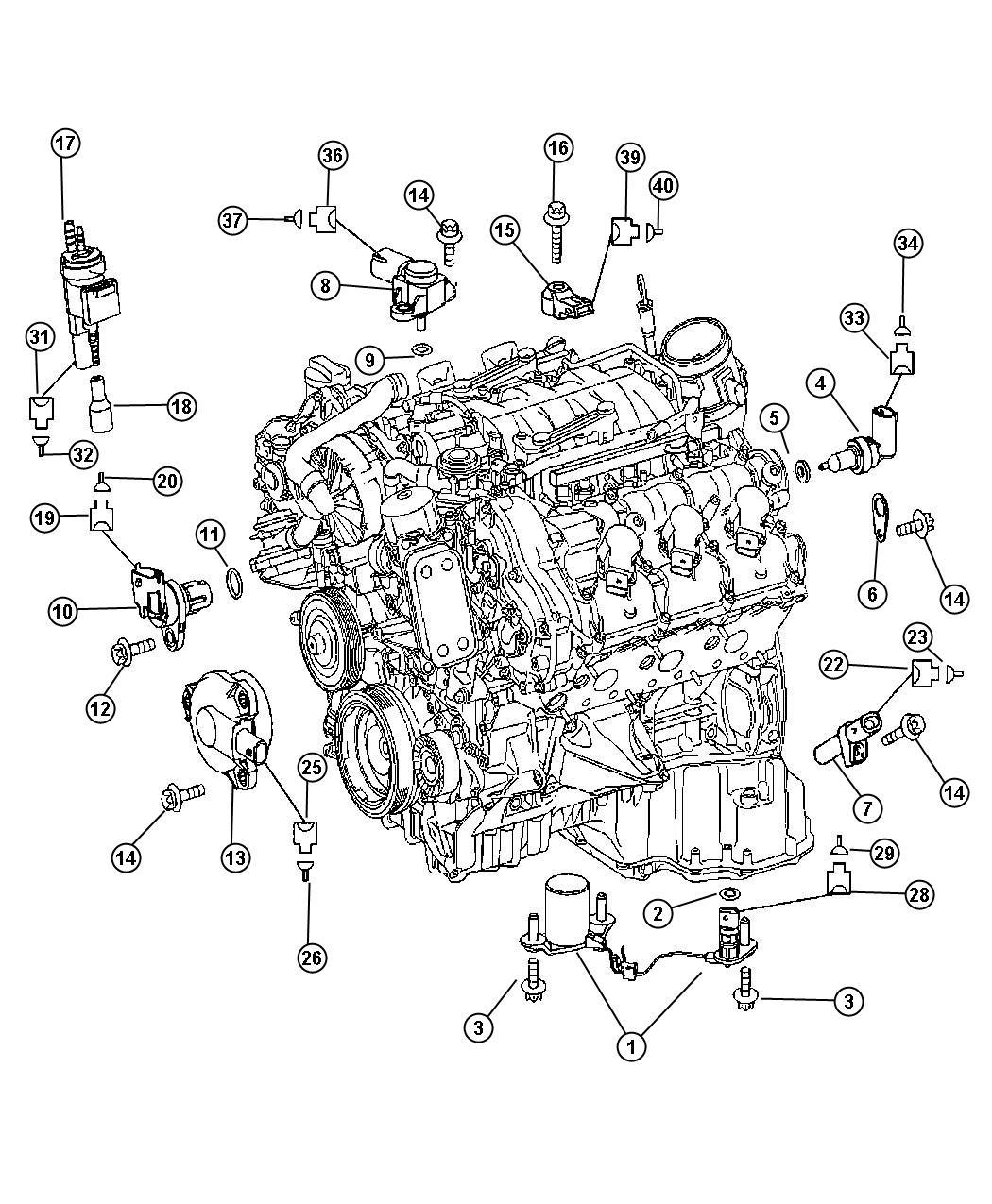 Dodge Sprinter Sensor  Crankshaft Position  Stamp A 004