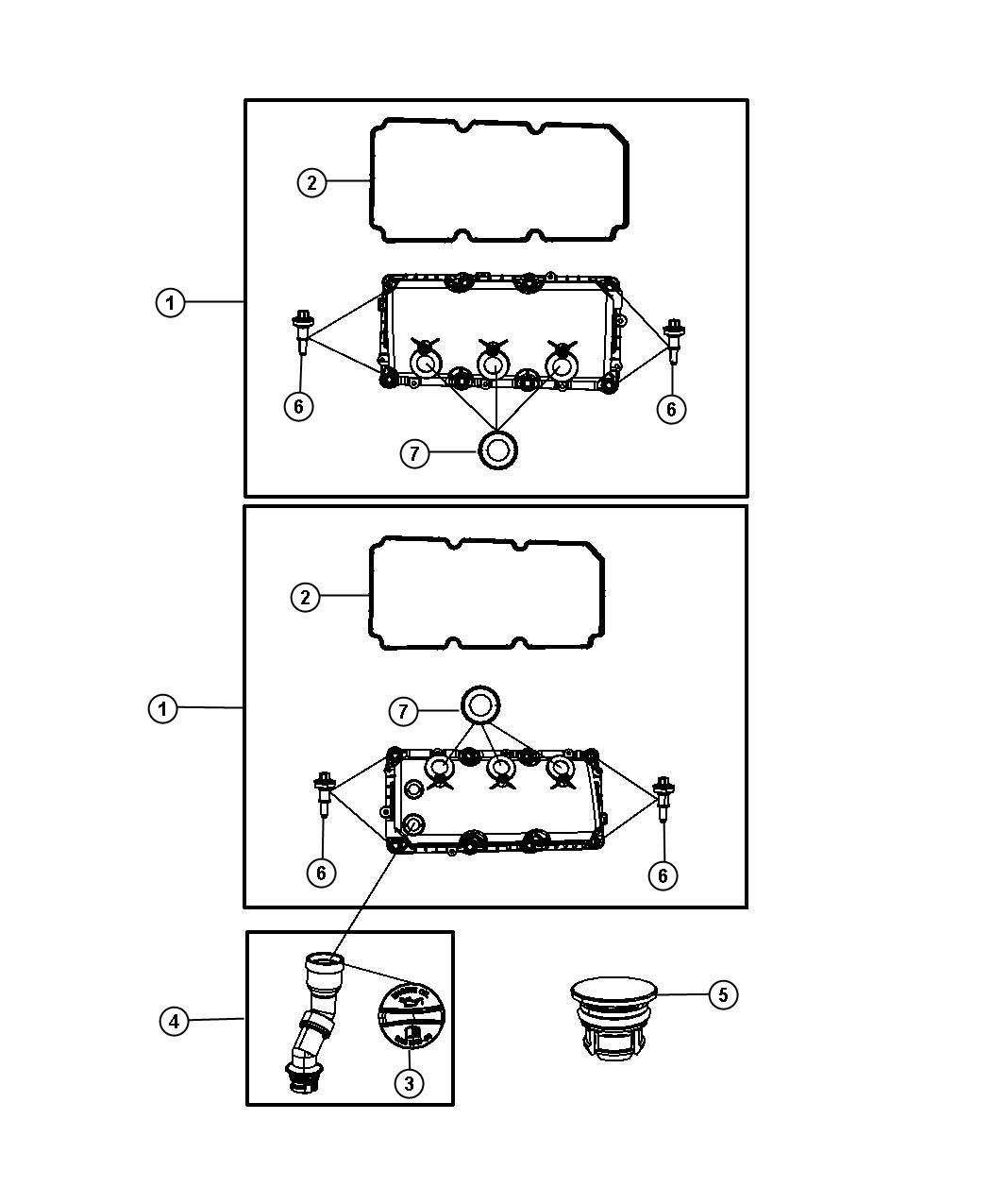 dodge grand caravan cap  oil filler  includes o-ring  head  cylinder  covers