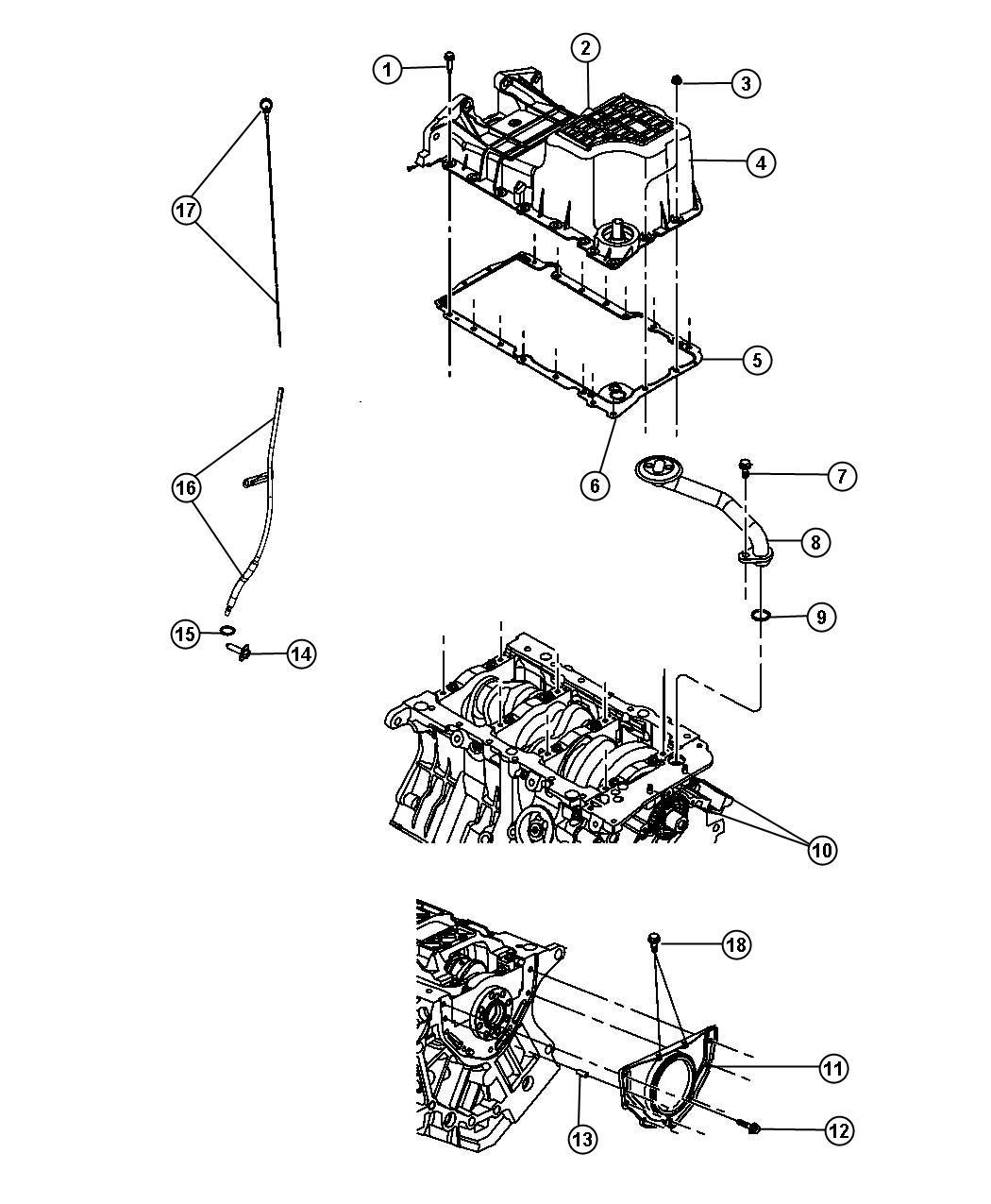 2008 Dodge Grand Caravan Tube  Engine Oil Indicator