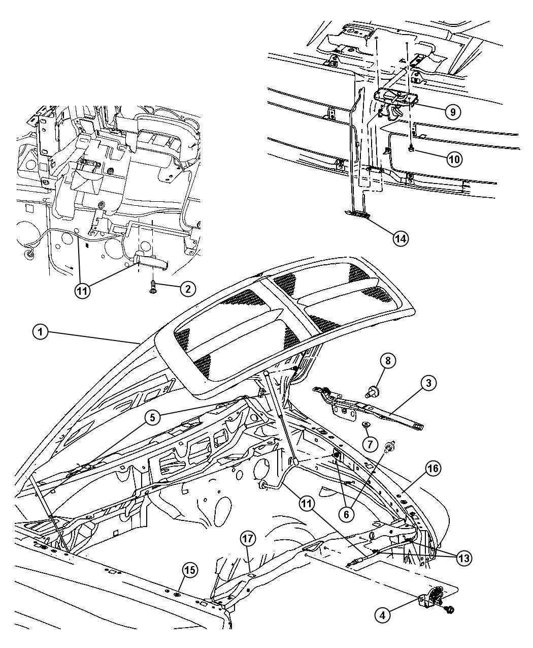 2005 dodge ram 1500 hinge left hood body glass - 2005 dodge ram 1500 interior parts ...