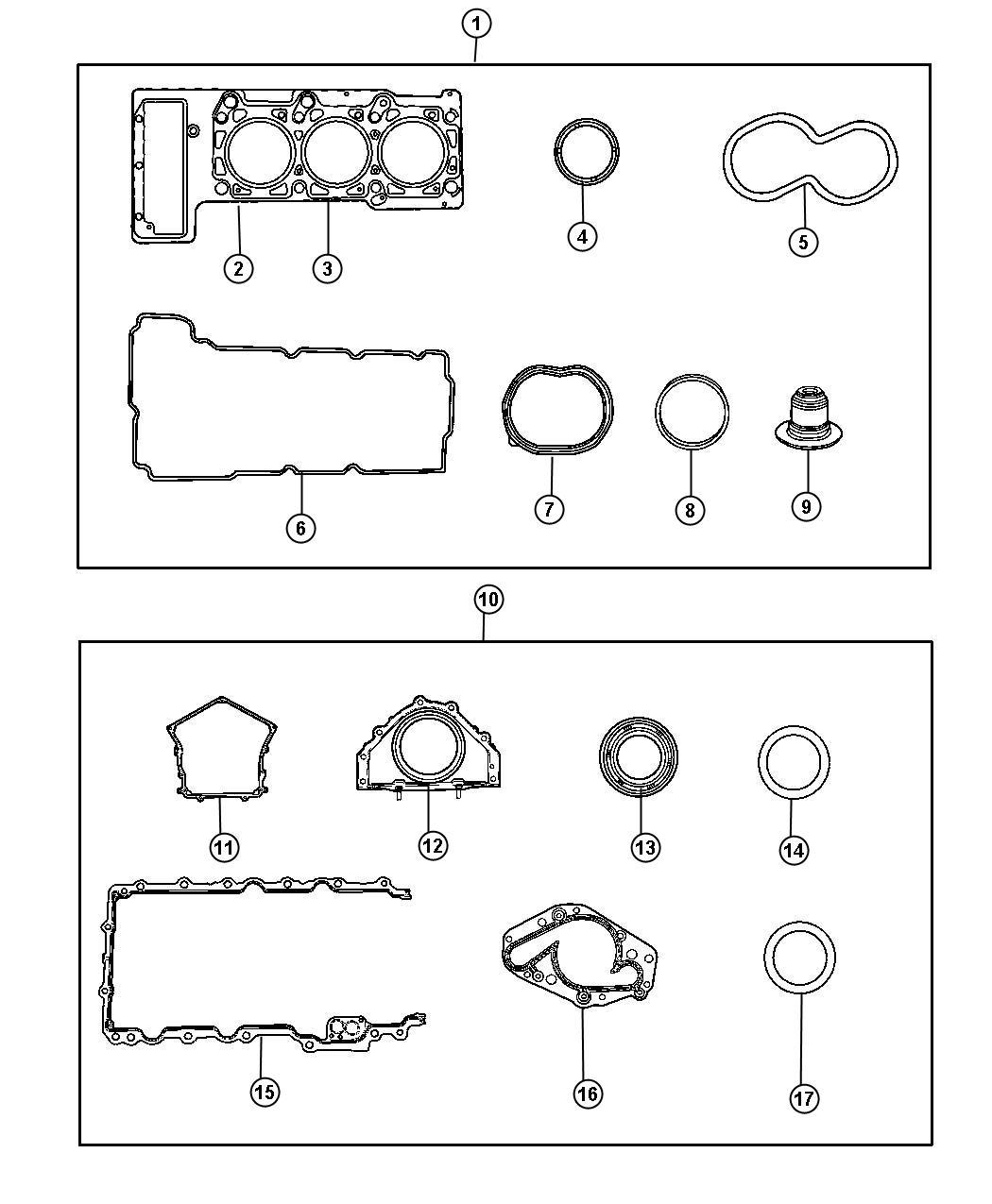 Bing Maps V6 3 To V8 Migration Guide: 2005 Chrysler Sebring Gasket Package. Cylinder Head Cover