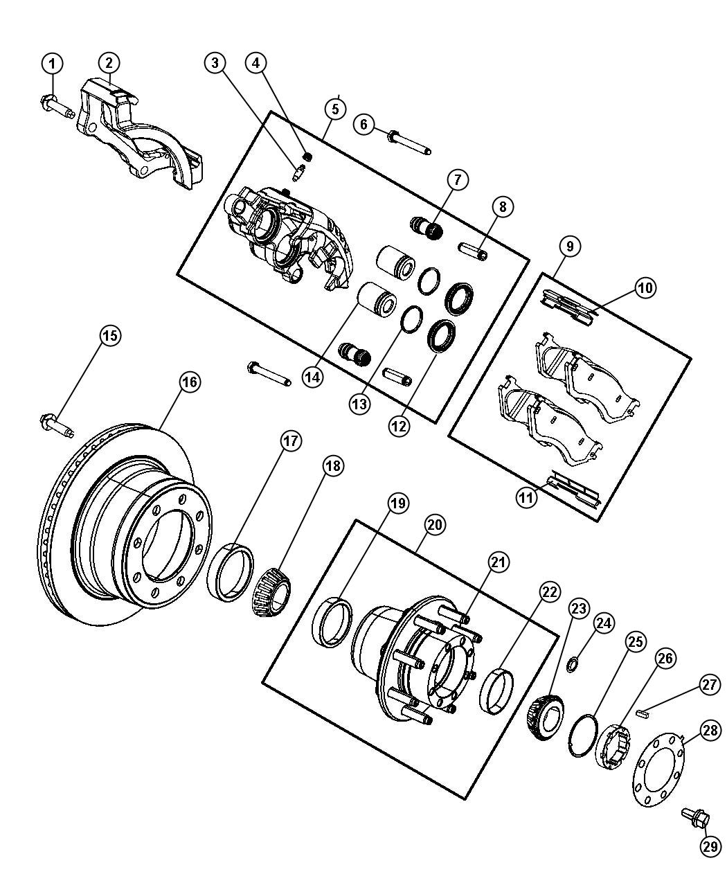 Dodge Ram 3500 Hub  Hub Assembly  Wheel  Rear  Right Or