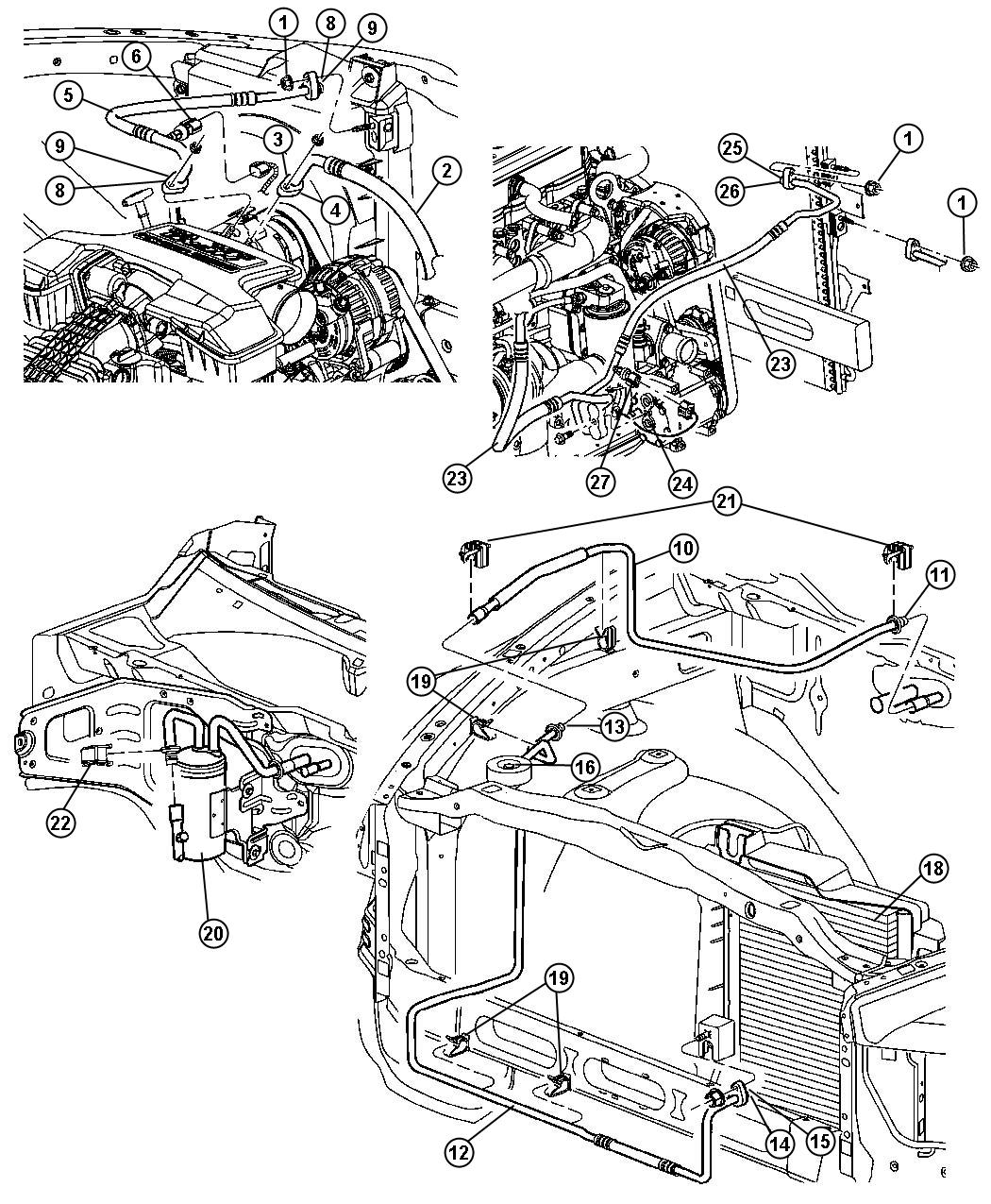 Dodge Ram 3500 Line  Used For  A  C Suction And Discharge