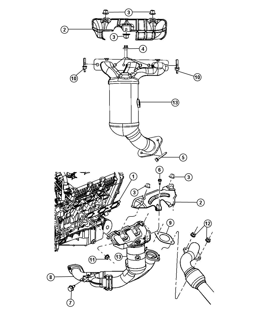 Chrysler Pacifica Pipe  Exhaust Front  System