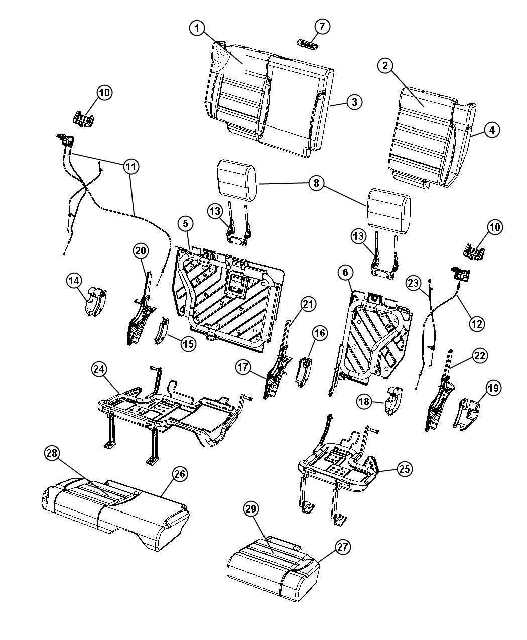 jeep wrangler bezel  headrest base   dd   trim    e5