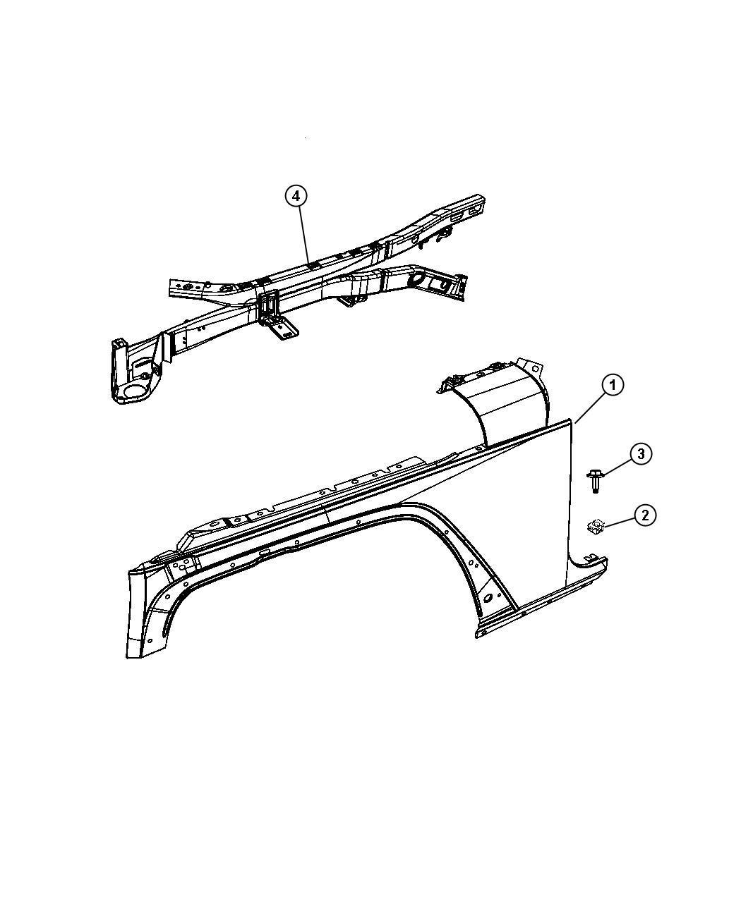 Jeep Wrangler Panel  Fender  Right  Body