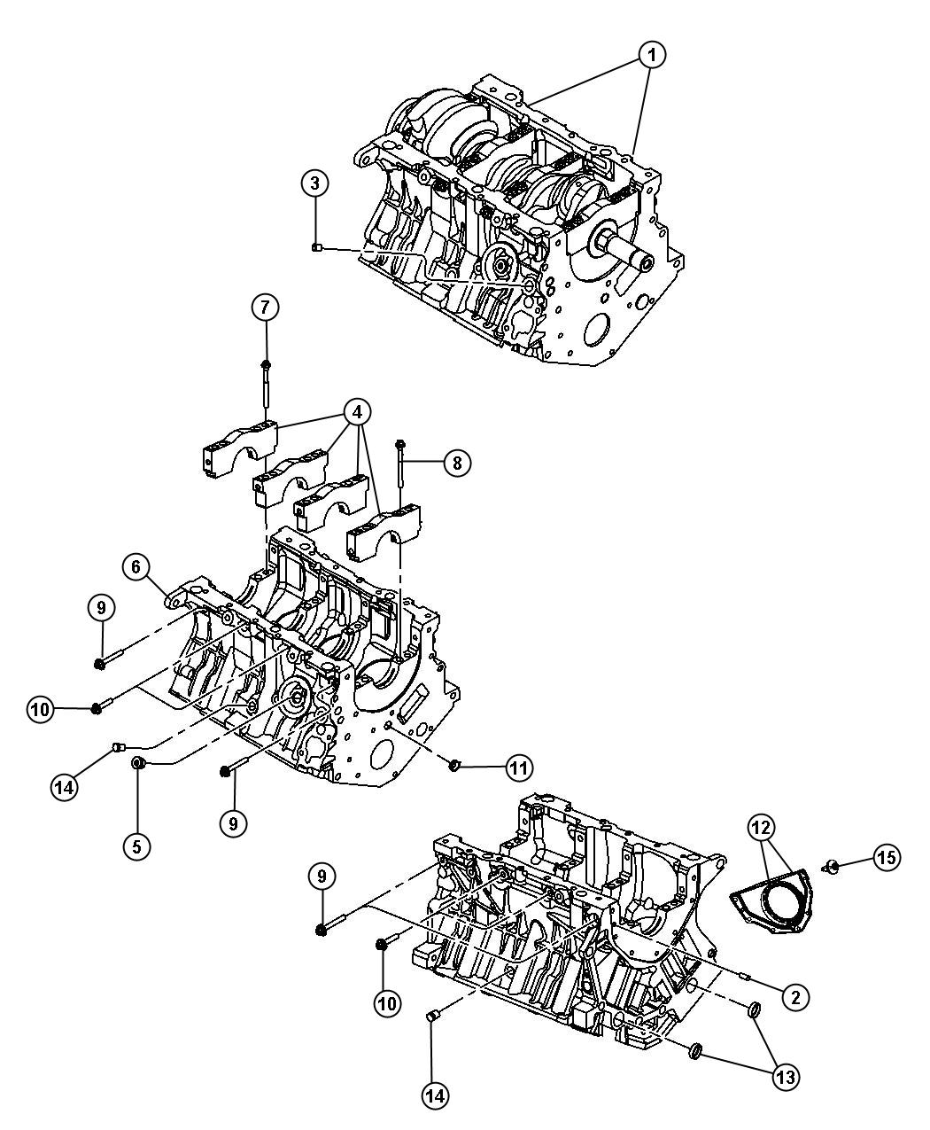 2008 Dodge Nitro Engine  Long Block  Remanufactured  Group  Tow  Trailer
