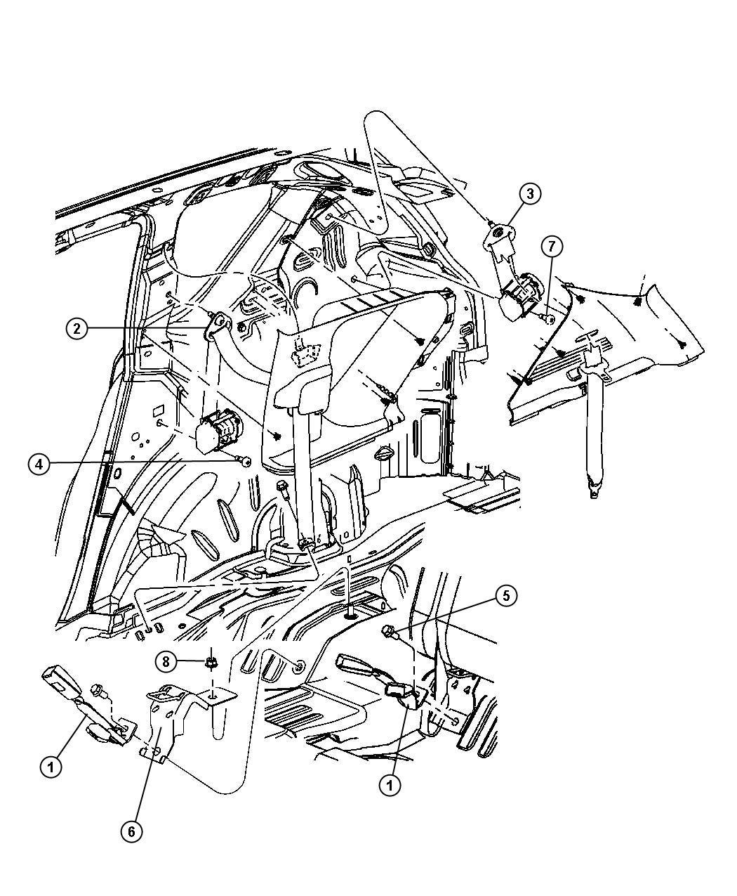 2008 jeep patriot seat belt. rear inner. right. [ka]. trim ... jeep patriot wiring diagram for 2012 jeep patriot belt diagram