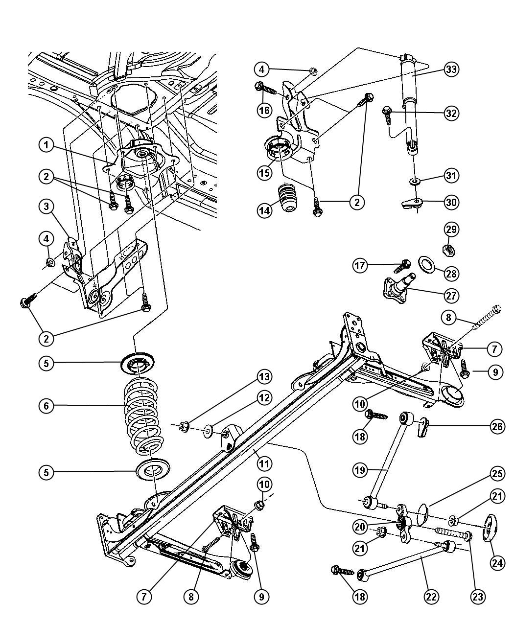 jeep commander suspension diagram