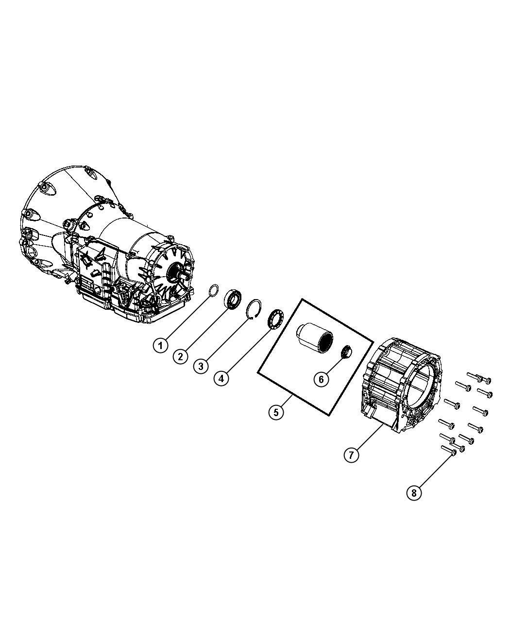 2008 dodge nitro adapter  transfer case  mounting  transmission
