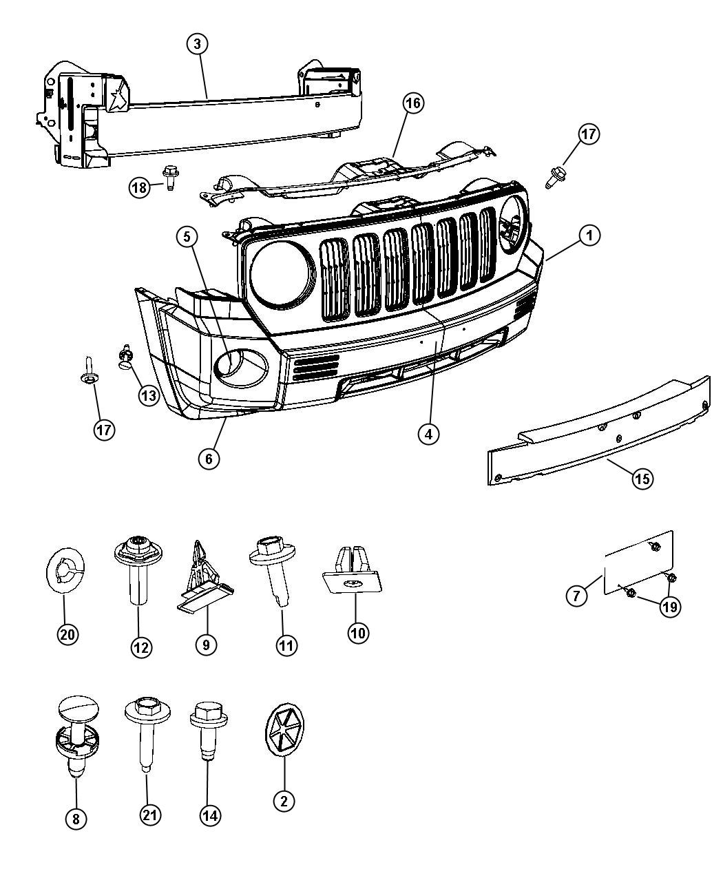 2008 jeep patriot panel  closeout  export  color  body  lamps