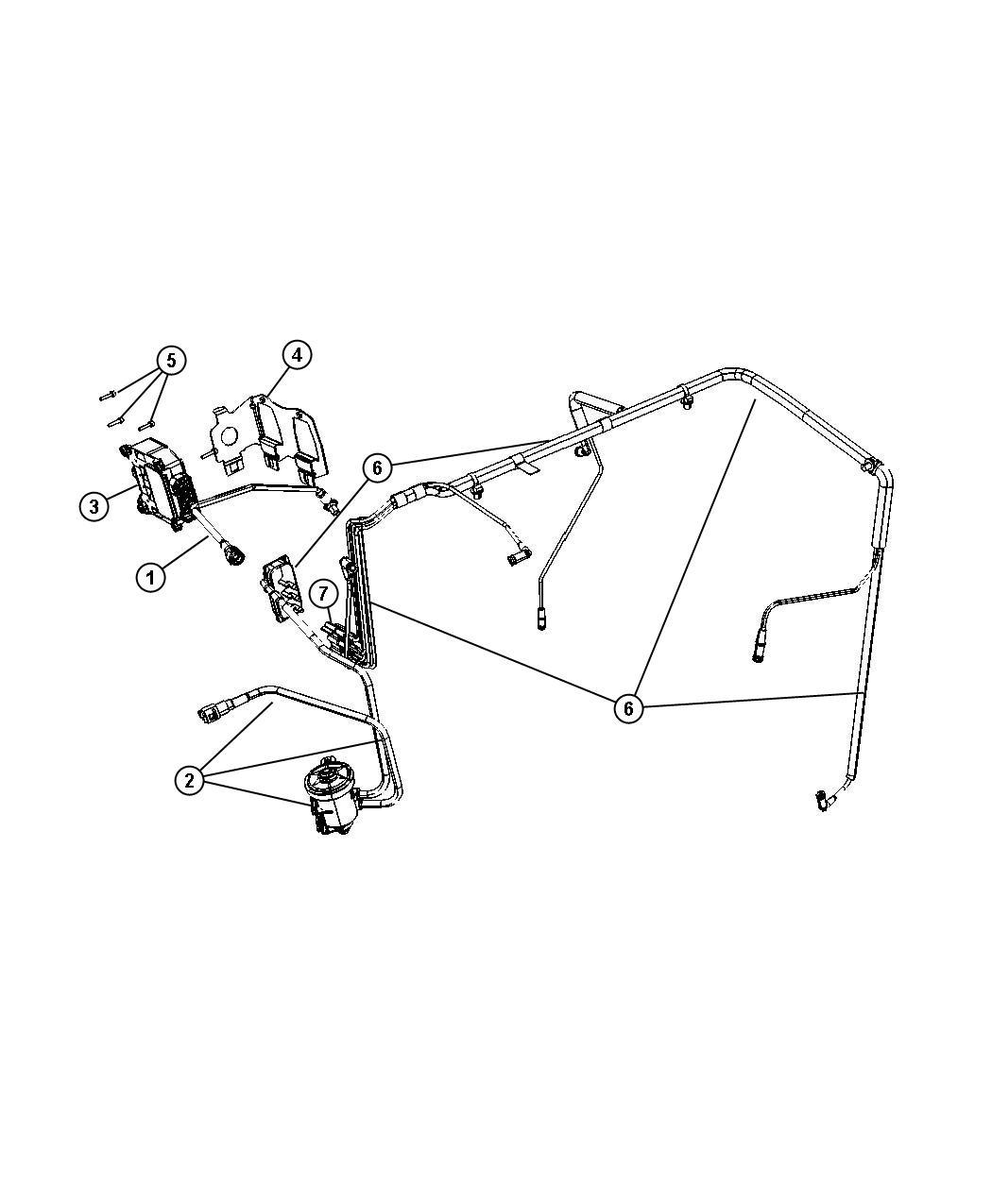 Jeep Compass Bracket  Vacuum Valve  Emission  Module