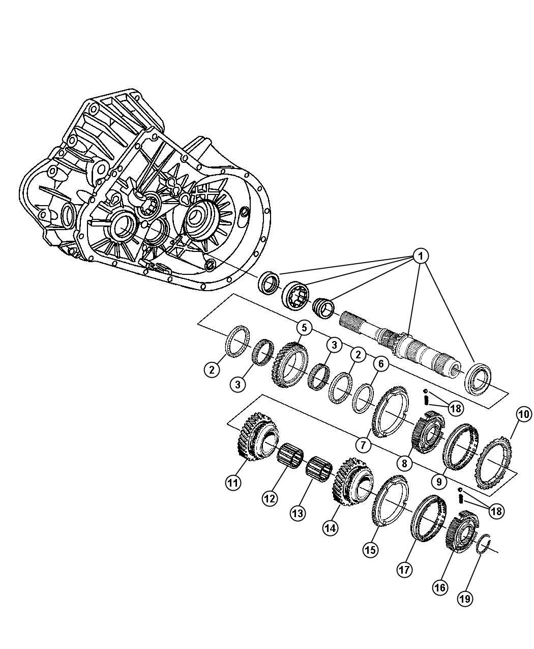 2008 Chrysler Pt Cruiser Gear  Fourth  Shaft  Input