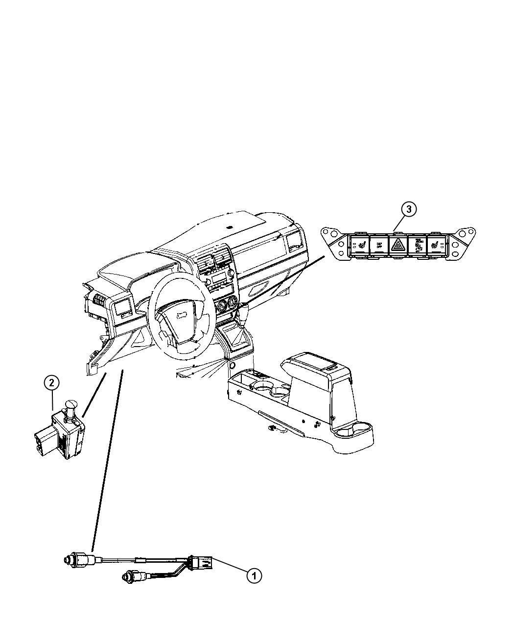 Jeep Compass Switch. Pod. [jkl, Cam], [jkl, Cma]. Panel