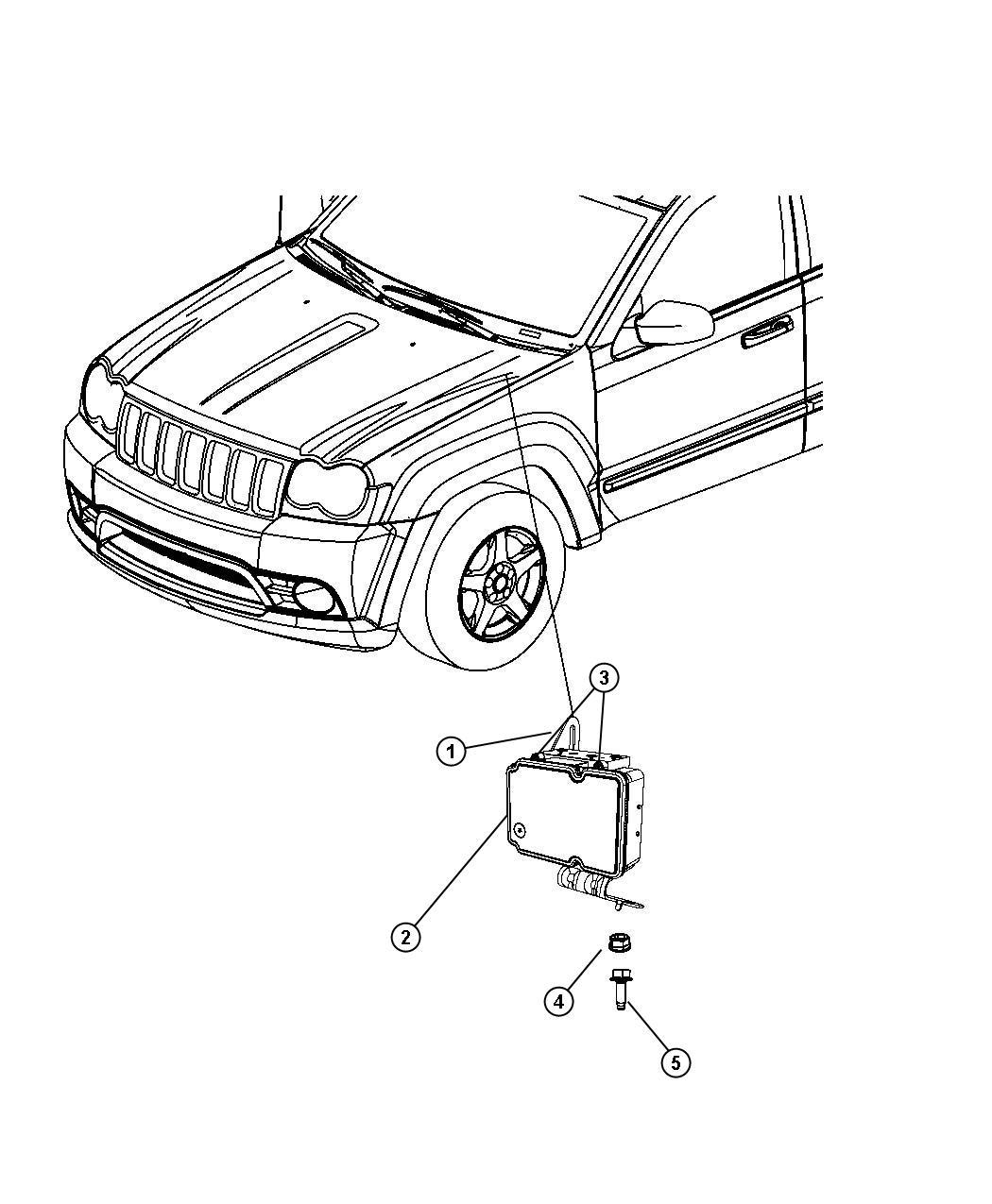 2008 Jeep Grand Cherokee Control Unit  Anti