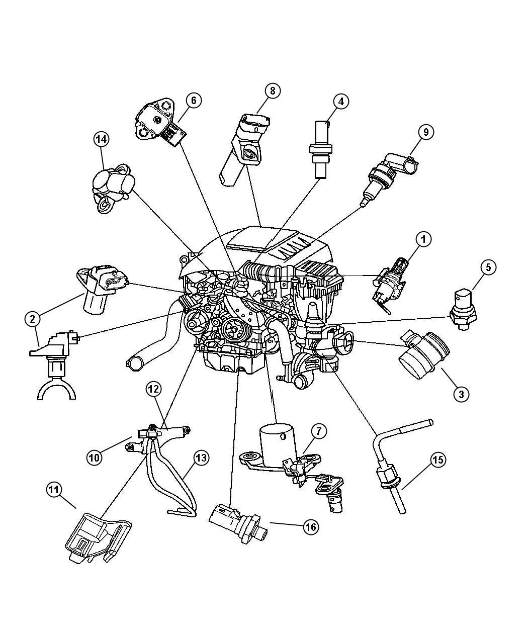 2008 Jeep Grand Cherokee Sensor  Differential Pressure