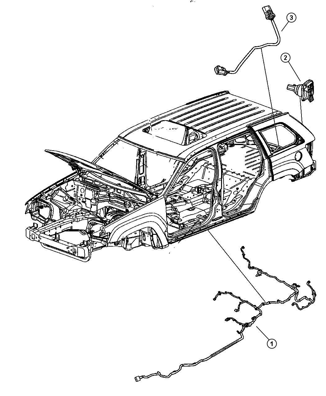 2008 Jeep Grand Cherokee Wiring  Underbody  Xgm  Tow  Dhx