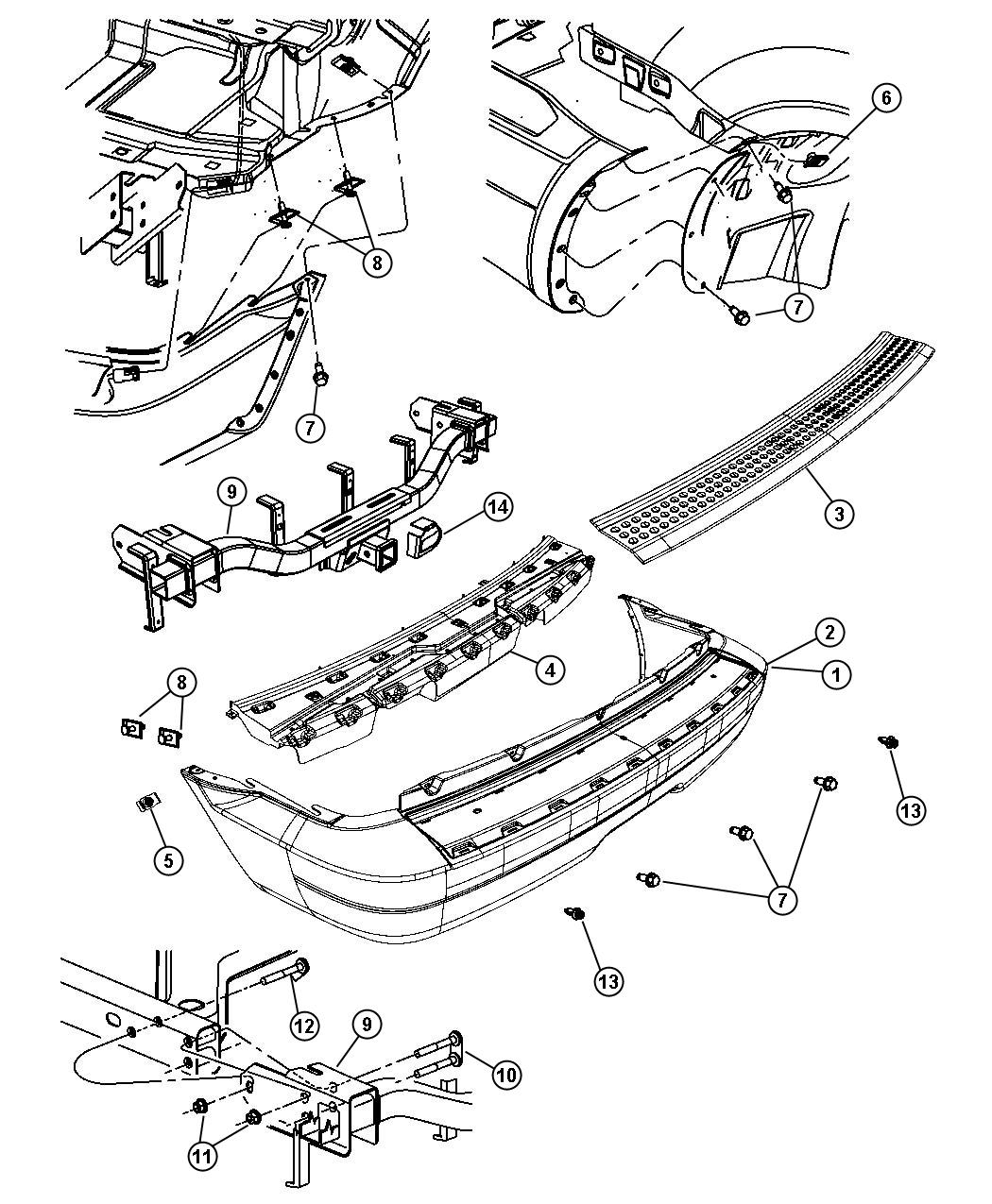 2004 dodge durango rear bumper parts diagram  dodge  auto