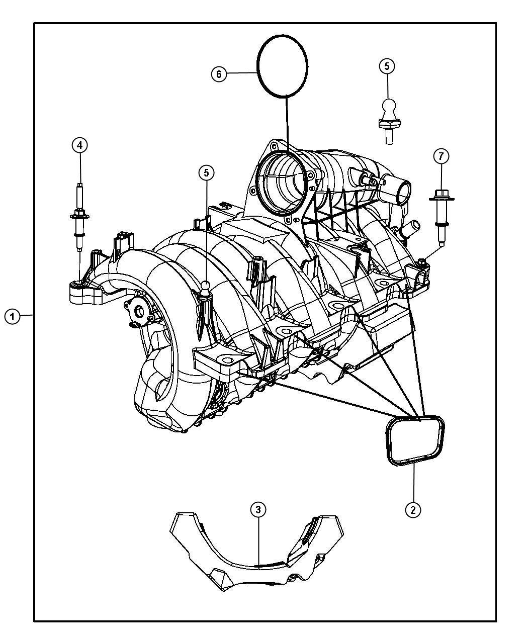 Jeep Commander Manifold. Engine intake. Crew cab ...