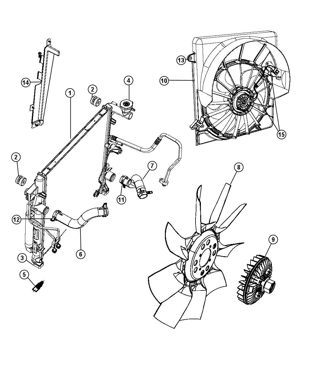 2009 dodge nitro wiring  fan motor  contains resistor  kit
