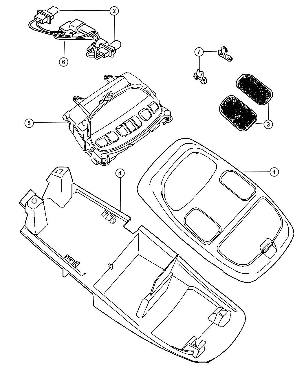 2008 Dodge Ram 5500 Wiring  Overhead Console  Trim   All