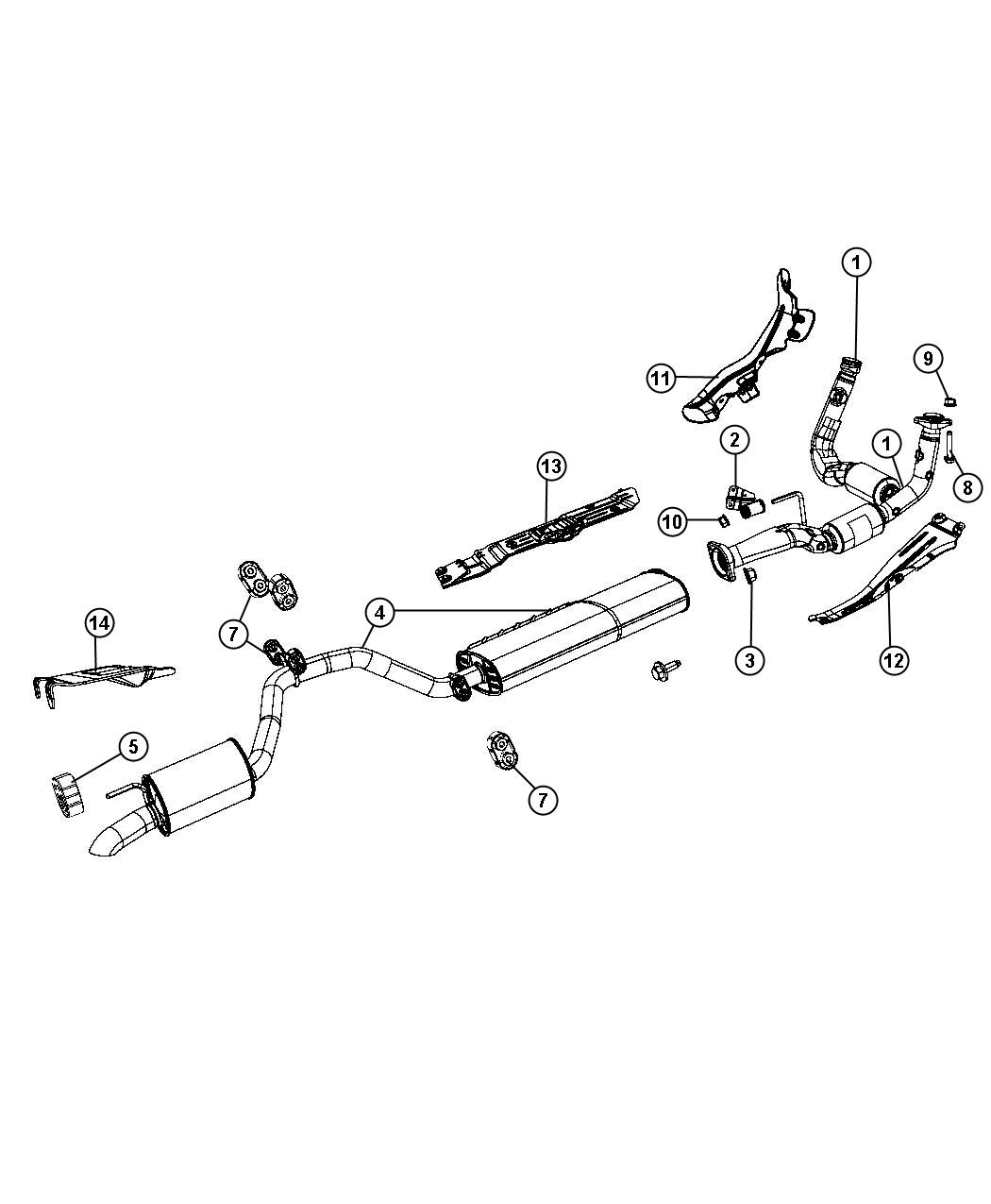 jeep commander exhaust diagram