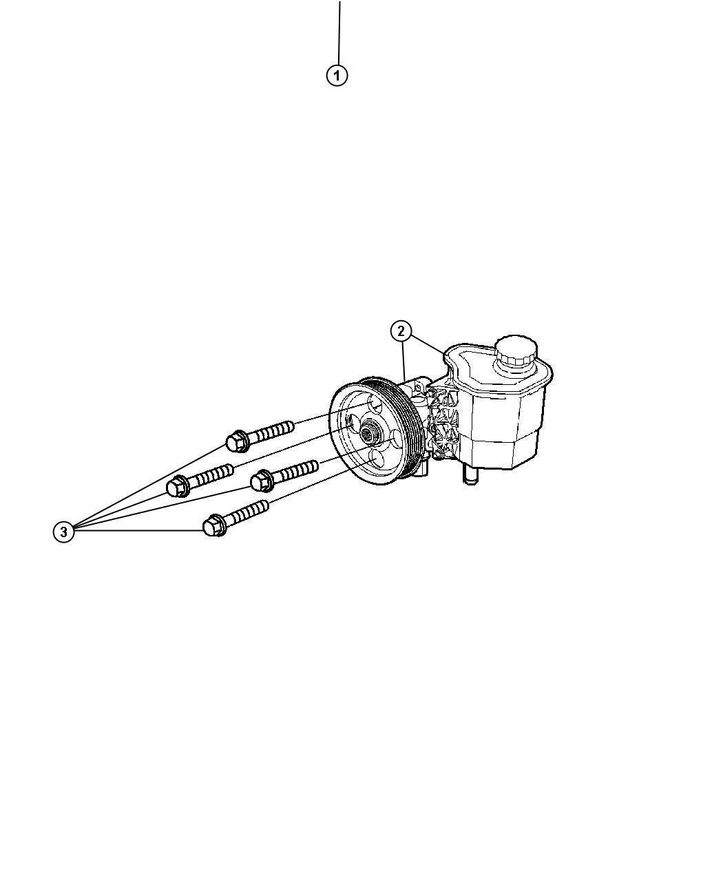 2008 chrysler aspen kit  pump  u0026 pulley  steering  power