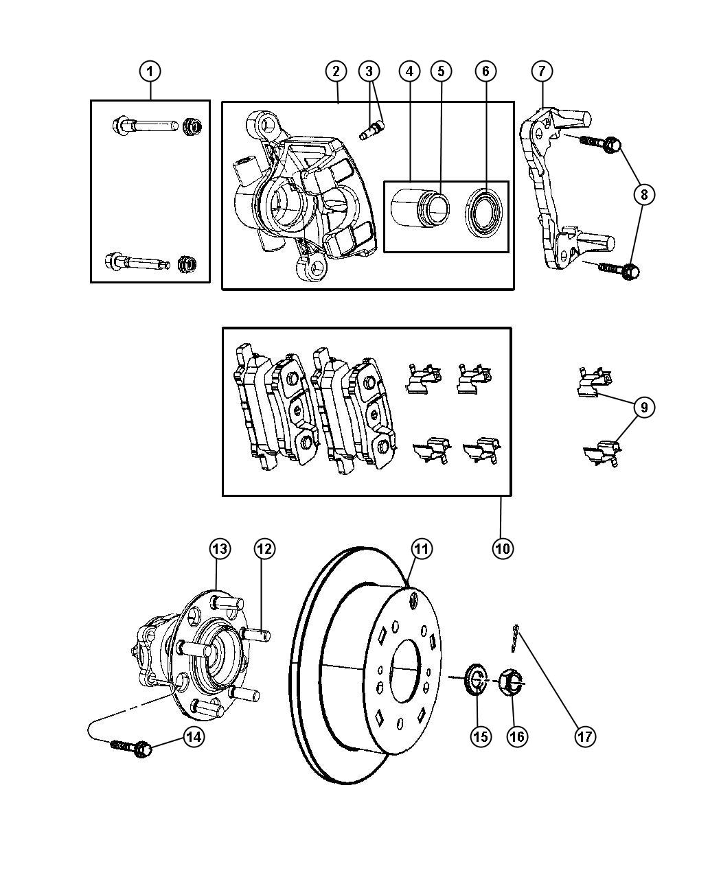 fwd rear suspension diagram
