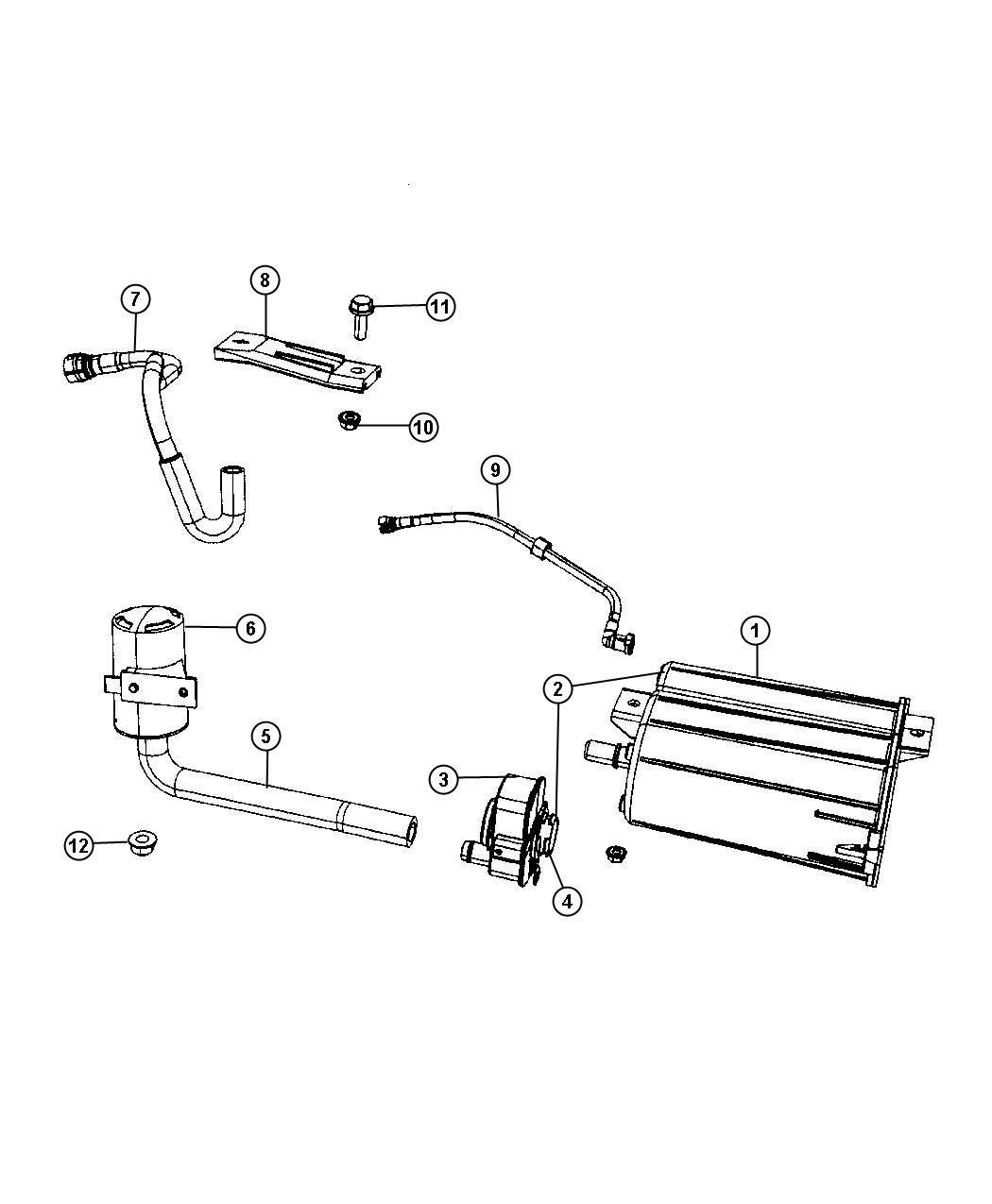 2011 dodge caliber hose  fuel tank vent line  fuel vapor