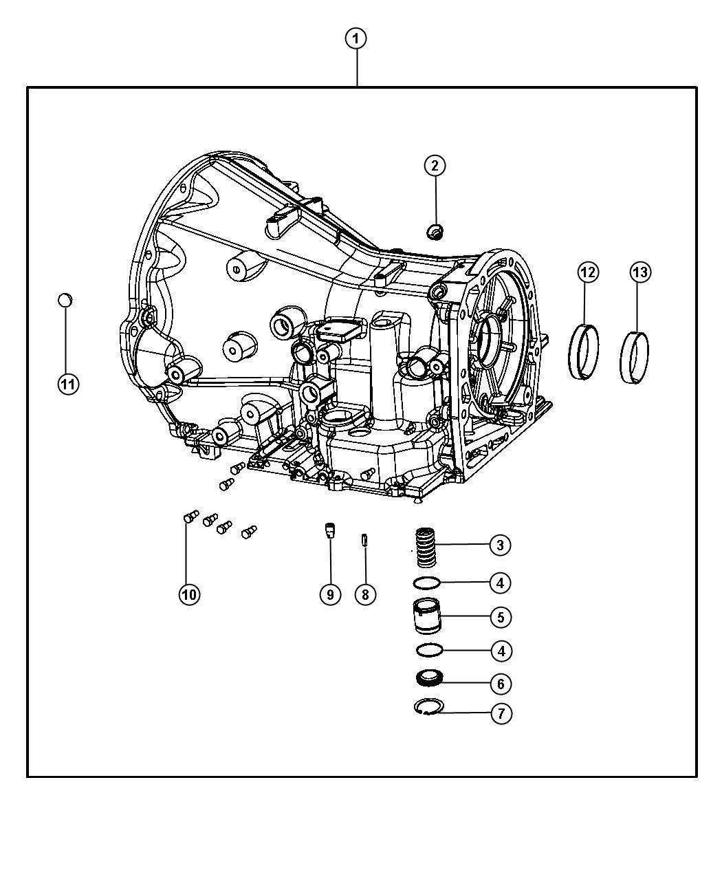 2006 Chrysler 300 Case. Transmission - 68003762AA