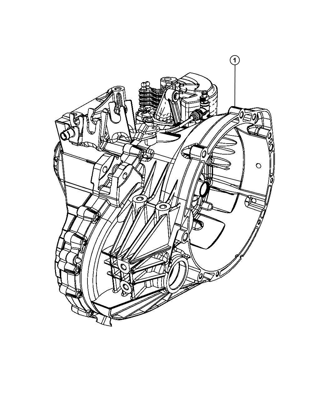 2008 Dodge Caliber Trans  Transmission  Transaxle