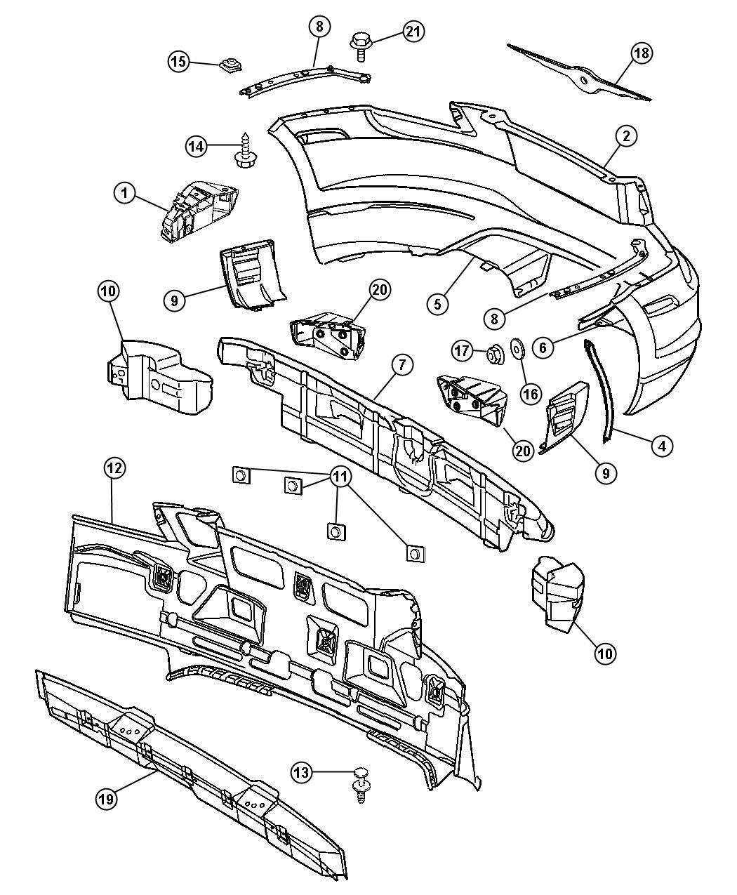 2006 Chrysler Crossfire Repair Kit. Japan