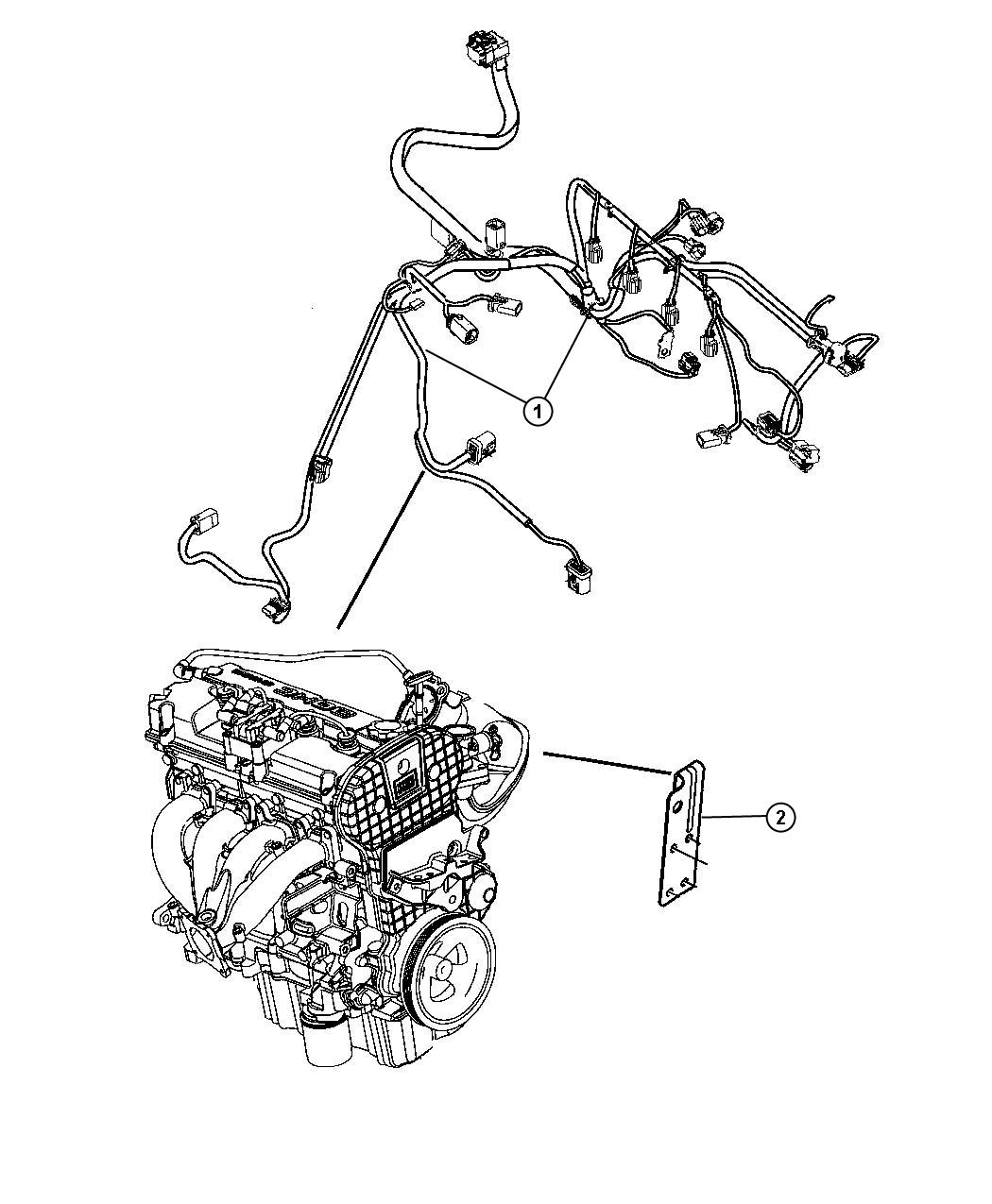 dodge avenger wiring  engine