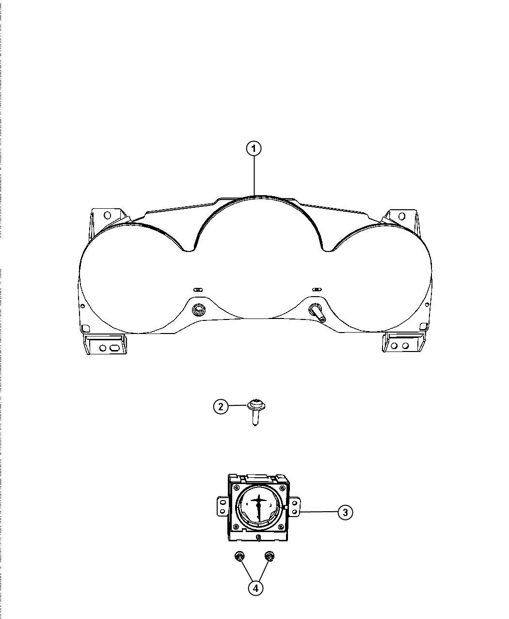 2008 chrysler sebring cluster  instrument panel   120 mph primary speedometer