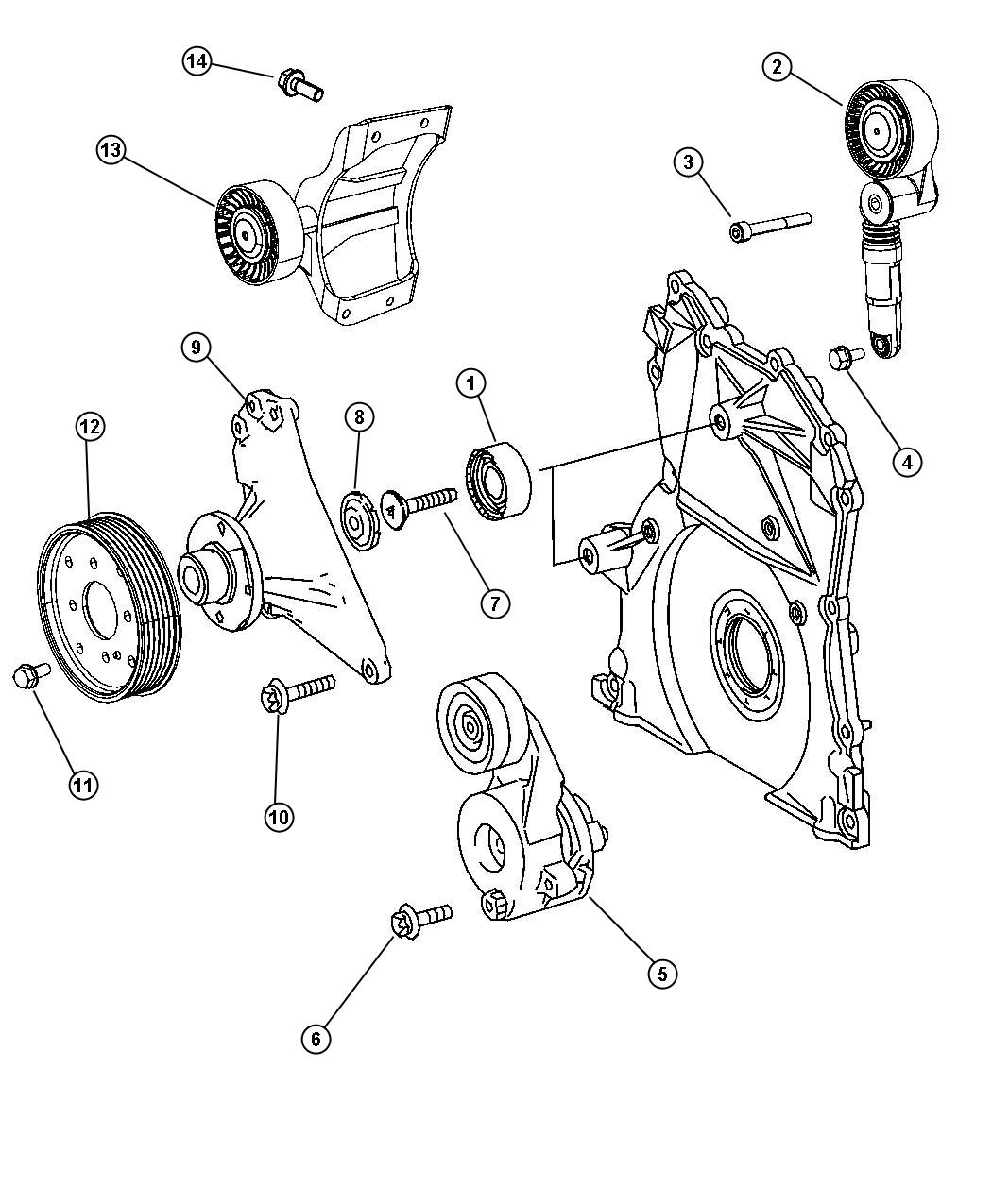 2008 Dodge Sprinter 3500 Pulley  Tensioner  Maintenance