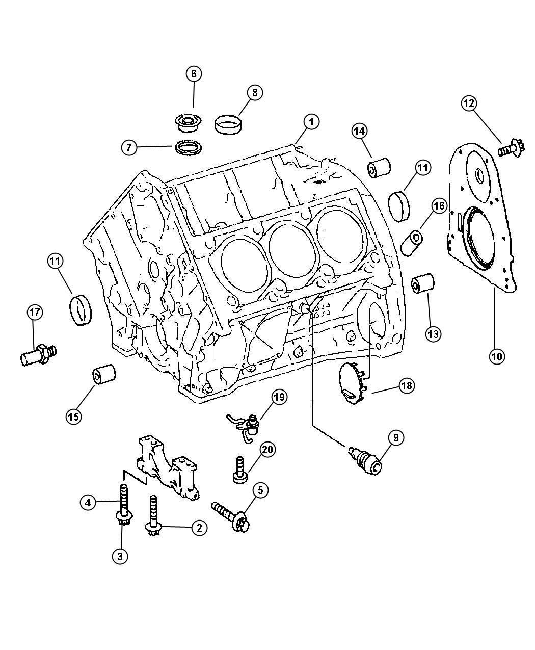 2007 Dodge SPRINTER 3500 Retainer. Crankshaft rear oil ...