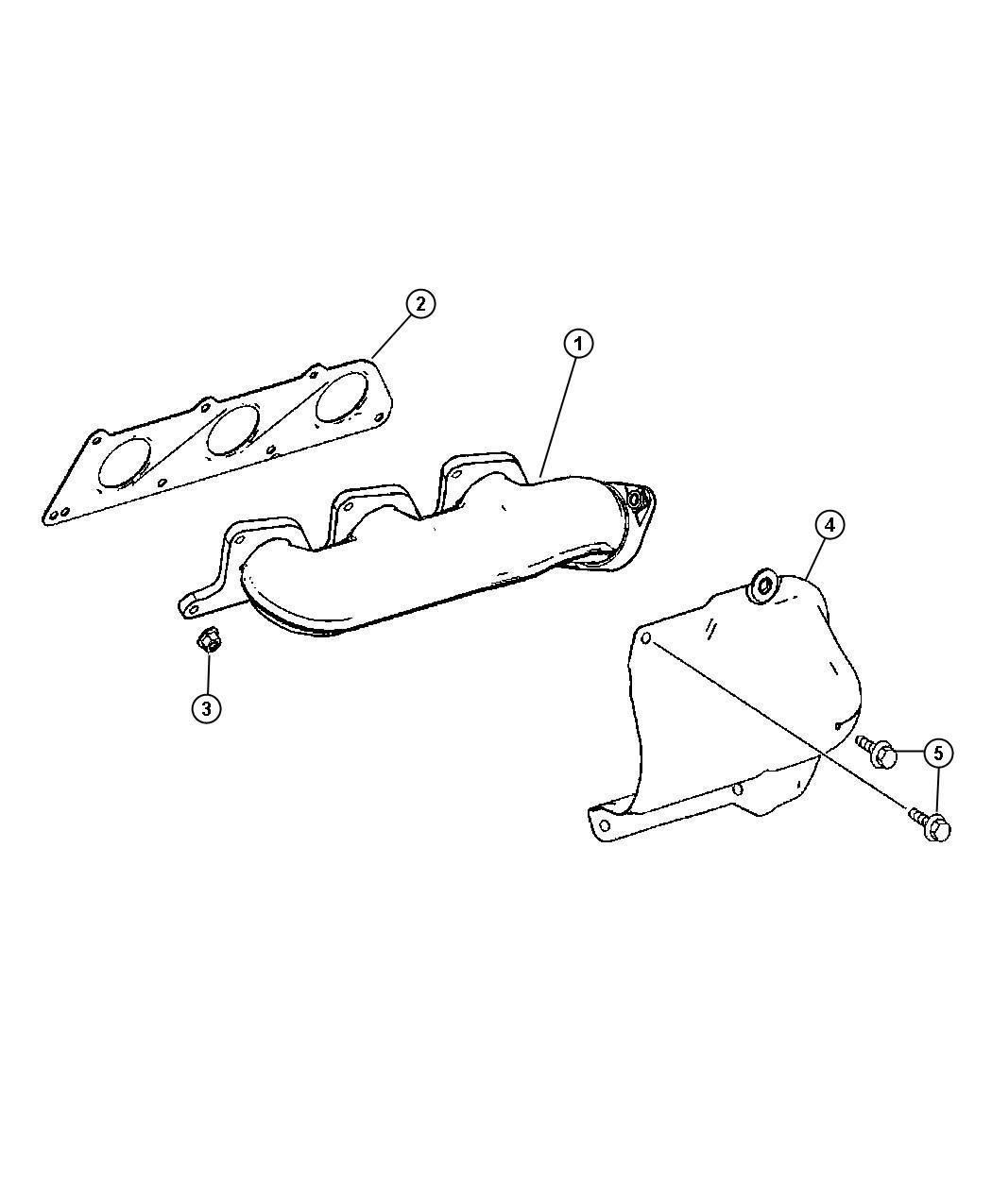 dodge sprinter manifold  exhaust  left