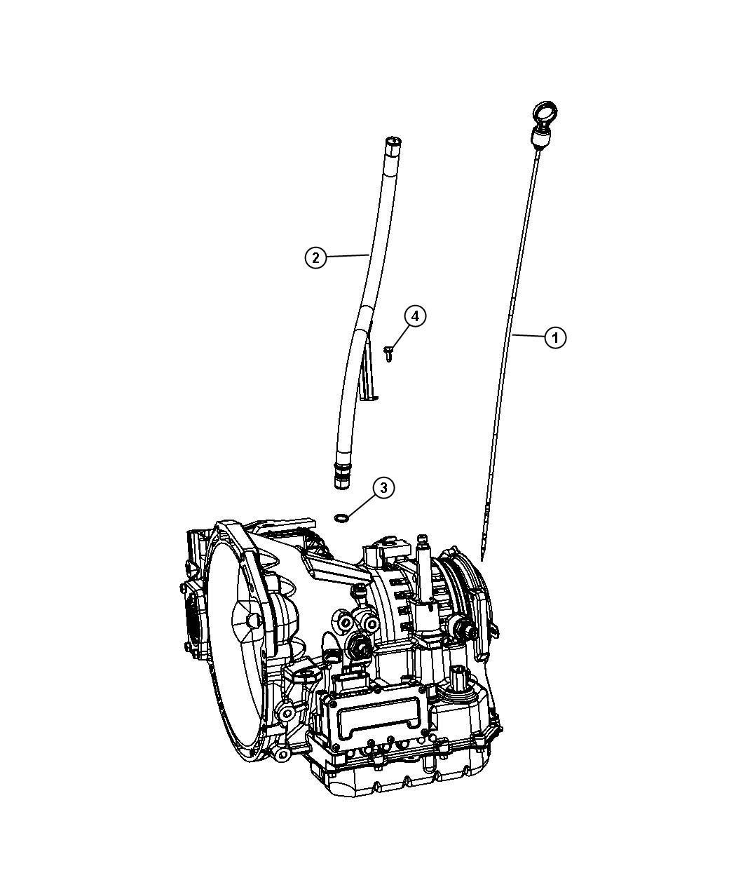 2009 Dodge Journey Indicator  Transmission Fluid Level