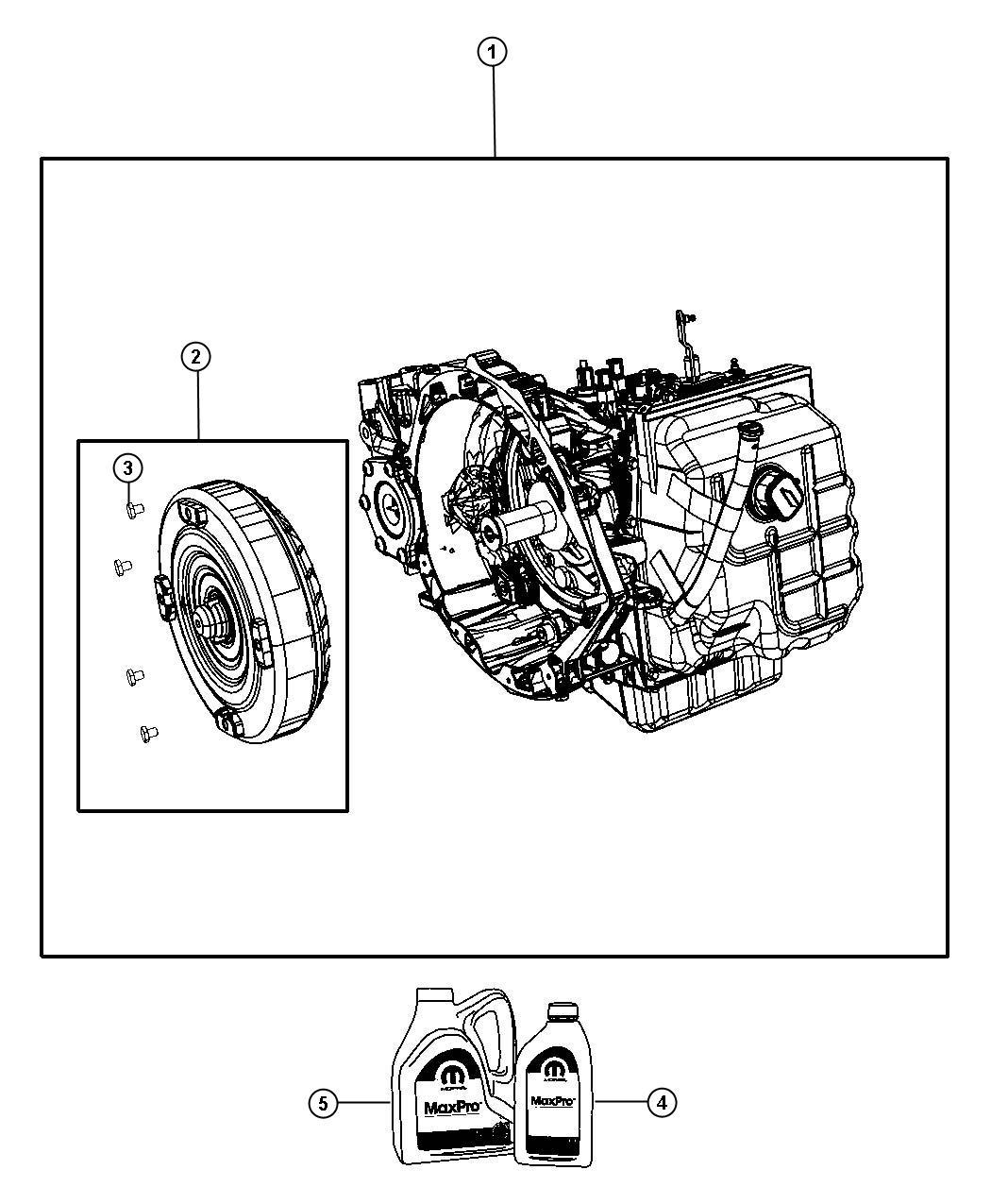 Dodge Journey Transmission Kit  With Torque Converter