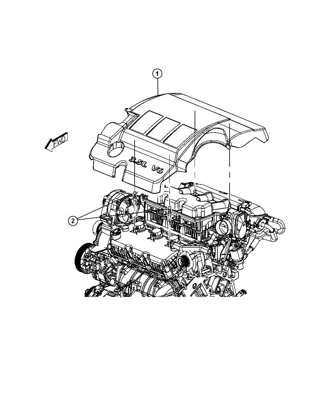 Dodge Avenger Ball Stud  Mounting  Engine Cover