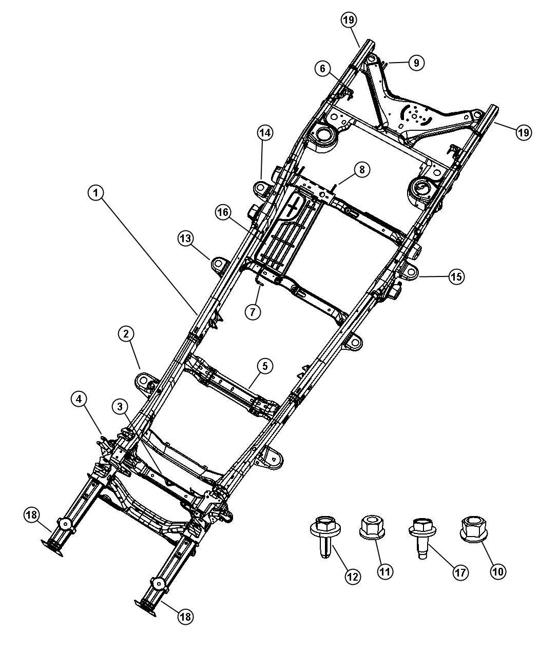 2009 chrysler aspen crossmember underbody lower control. Black Bedroom Furniture Sets. Home Design Ideas
