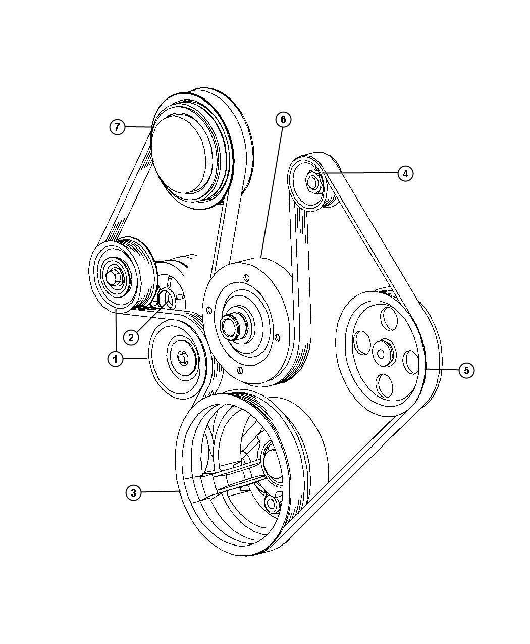 Chrysler Aspen Tensioner  Belt   4 7l V8 Ffv Engine