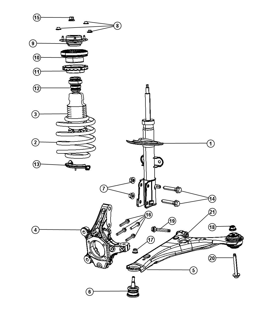chrysler town  u0026 country spring  coil  suspension  front  duty