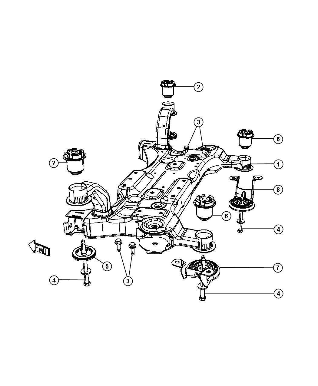 2010 dodge grand caravan plate  isolator  suspension