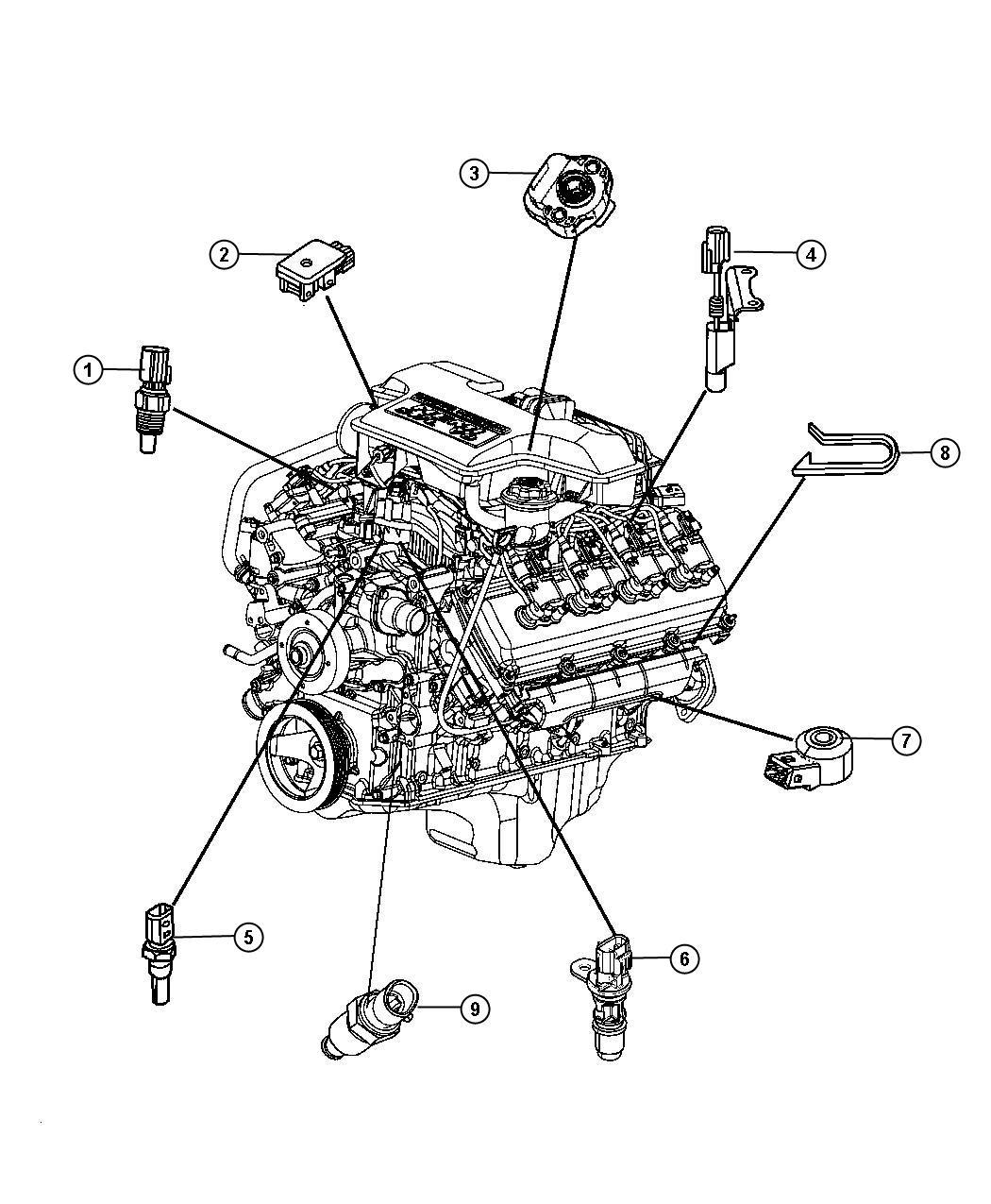Chrysler Aspen Sensor  Map